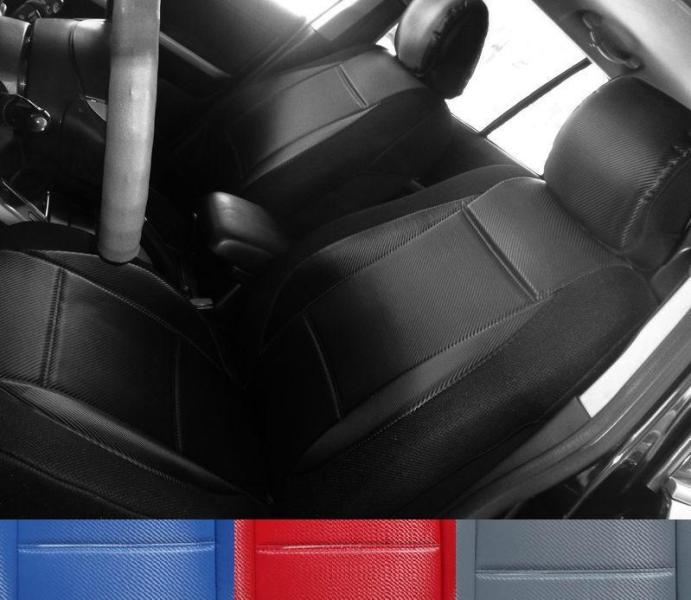 for toyota rav4 like carbon fiber front custom seat covers