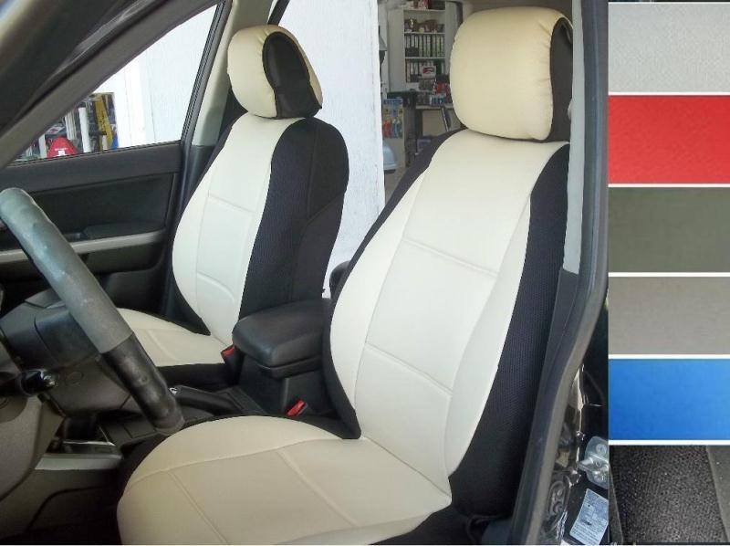 vw passat leatherette front seat covers  custom fit black grey beige blue red