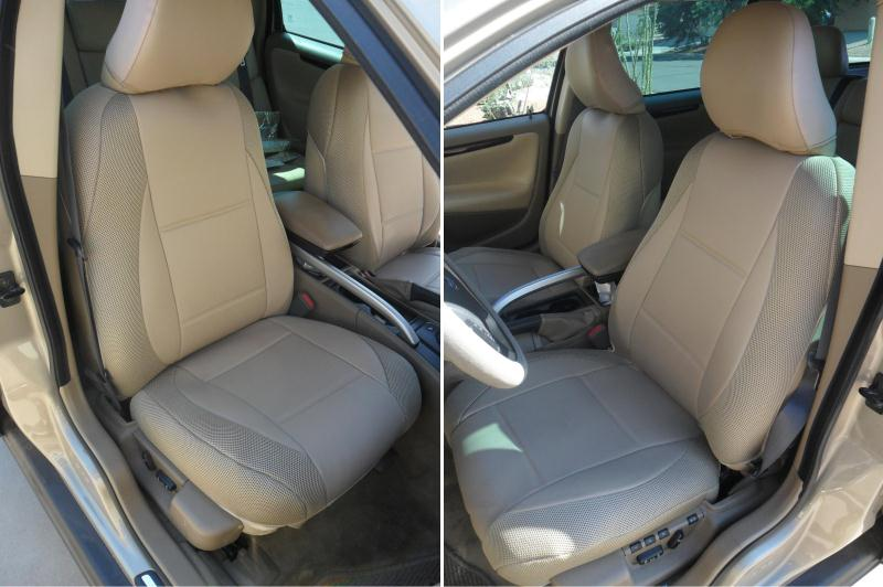 Fits On Volvo Seats Tan Leatherette Custom Two Front Car Seat Covers