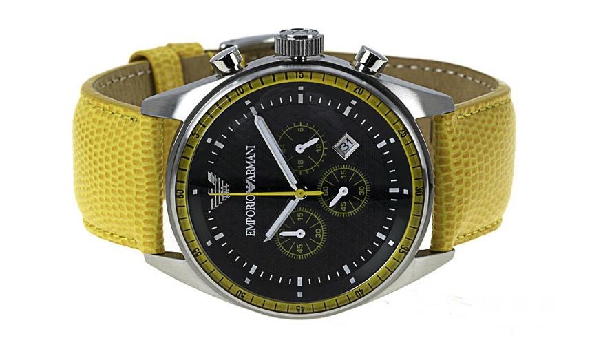 emporio armani gents yellow sport ar0528