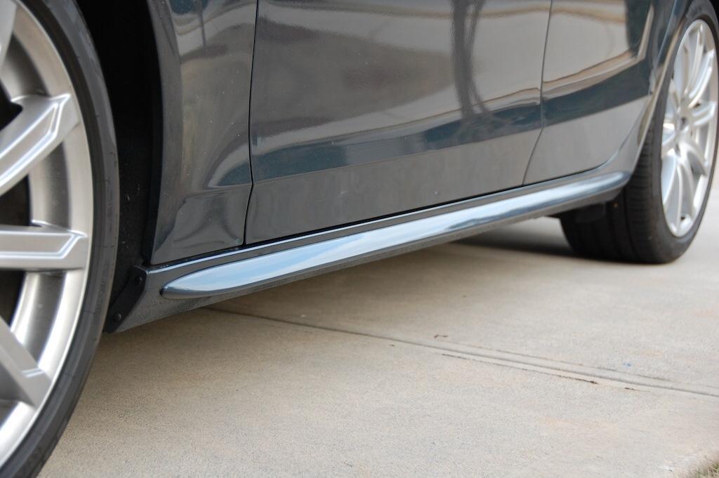 Audi A4 B8 Saloon Yrs 08-12, S Line Side Trim / Blades / Stone Protectors Pair