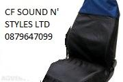 Marvelous Single Action Sport Seat Cover Blue/Black
