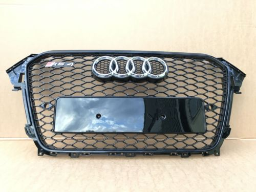 Audi A4 B8 Facelift Yrs 12 15 Honeycomb Black Grill Rs4 New