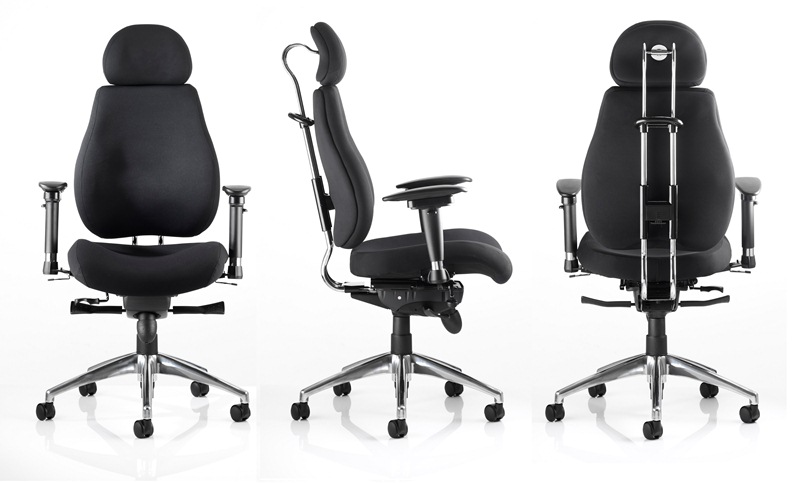 High backed posture plus task office chair with adjustable