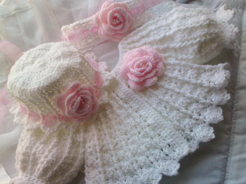 Crochet Baby Coat Pattern : Beautiful-babys-bonnets crochet pattern #25 Matinee Jacket ...