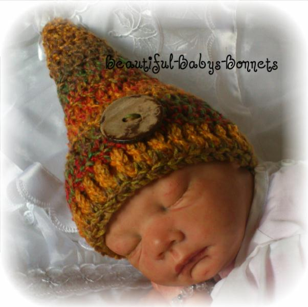 45 - Gnome Hat Newborn Photo Prop Crochet Pattern #45