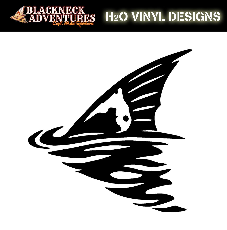 Blackneck adventures redfish tail vinyl sticker