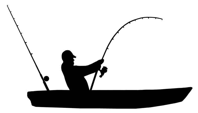 kayak fishing vinyl sticker