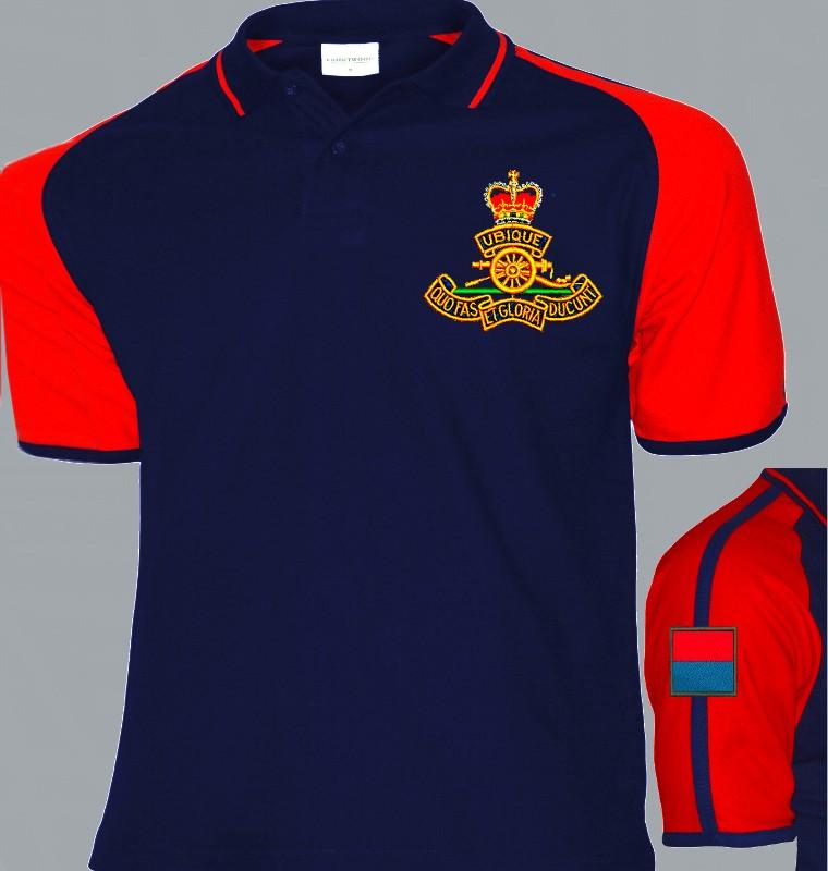 8a7087e0 Royal Artillery Colour Polo Shirt