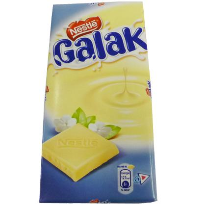 Galak white chocolate tablet - 100 gr. from Nestlé. Smarties Koekjes