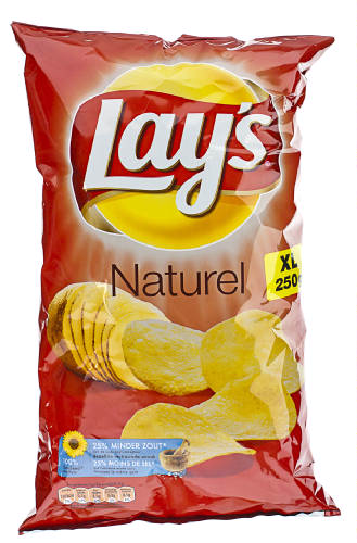 Lay S Flat Chips Zout Sel Salt Naturel Natural Xl
