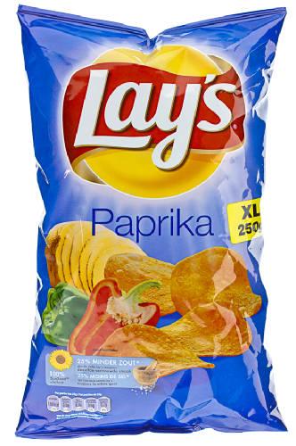 Lay S Flat Chips Pickles Pickels Xxl 250 Gr Net