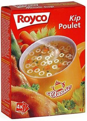 royco minute instant soup classic chicken kip 4 bags zakjes