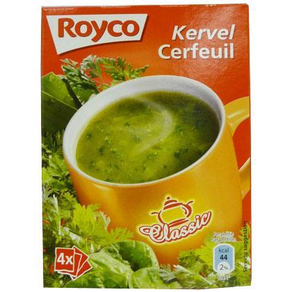 royco minute instant soup classic kervel cerfeuil 4 bags zakjes