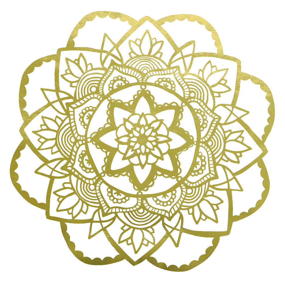 Rose Mandala Vinyl Wall Sticker