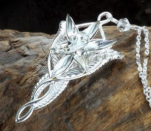 Lord of the rings arwens evenstar silver plated pendant necklace aloadofball Image collections