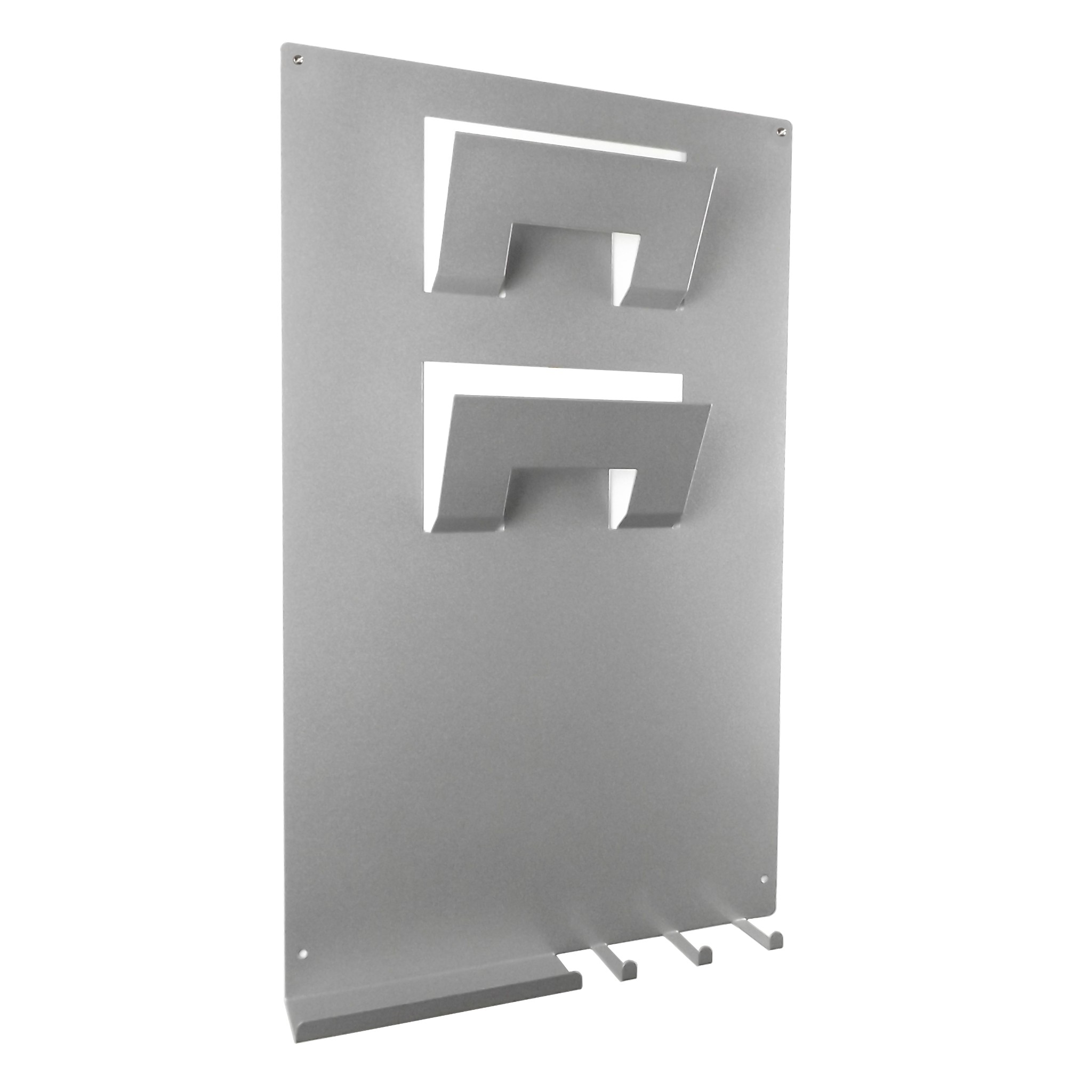 3 in 1 magnetic memo board letter rack and key holder metallic silver - Key and letter rack ...