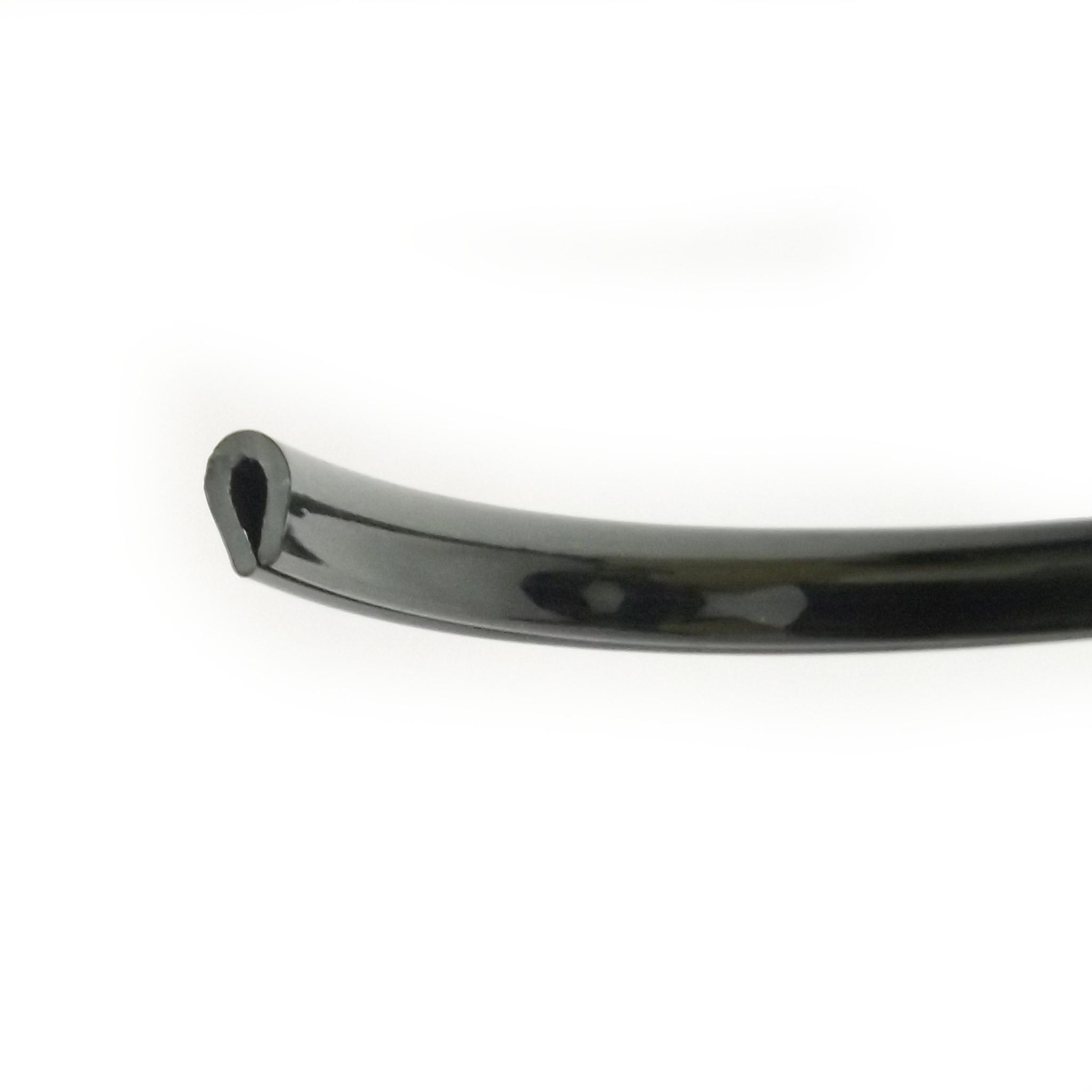 Small Black Protective PVC Edge Trim - Gloss Black