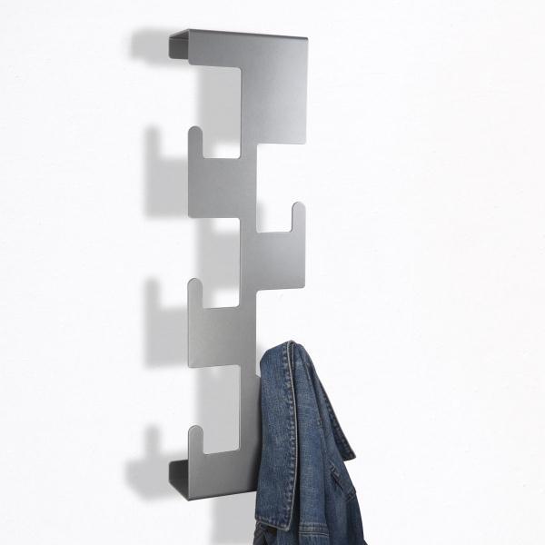 Retro Vertical Metal Coat Rack Metallic Silver Best Silver Wall Coat Rack