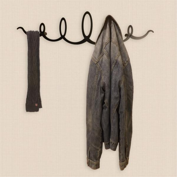 The Squiggle Metal Coat Rack Black Magnificent Black Metal Wall Mounted Coat Rack