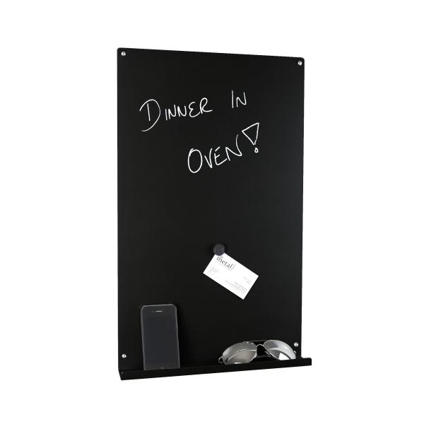 Vertical Magnetic Memo Board Metallic Silver Magnificent Black Magnetic Memo Board