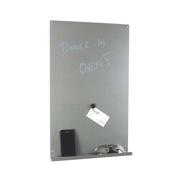 Vertical Magnetic Memo Board Metallic Silver Gorgeous Black Magnetic Memo Board