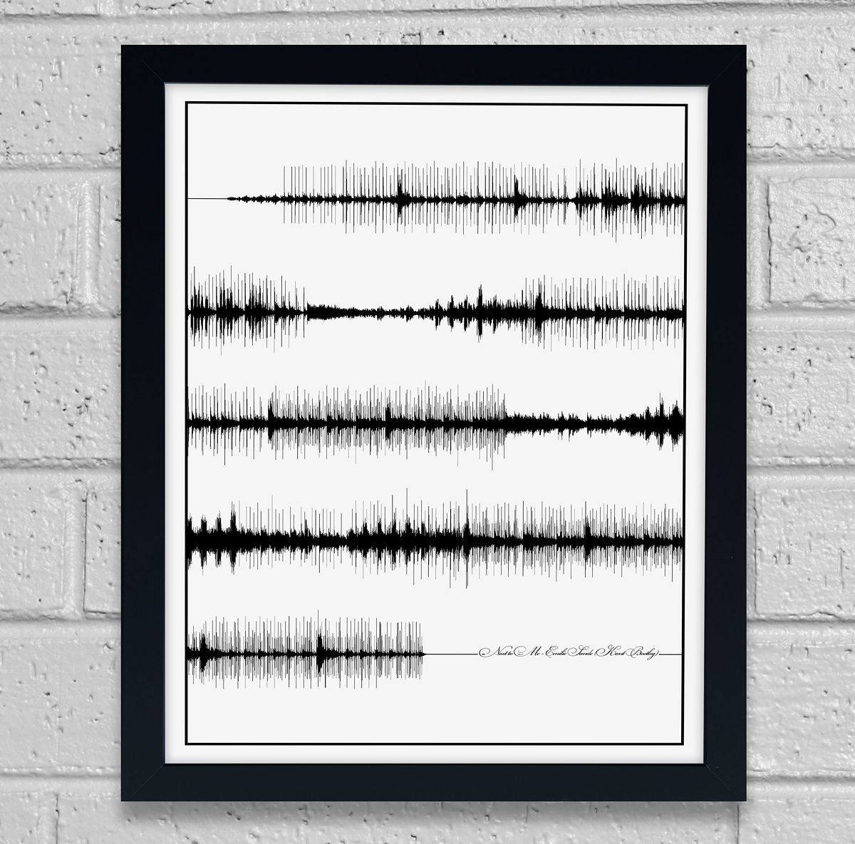 art print song sound wave art