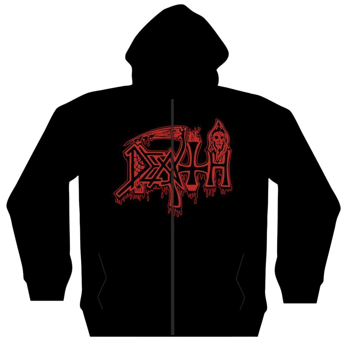 Death /'Scream Bloody Gore/' Zip Up Hoodie NEW /& OFFICIAL