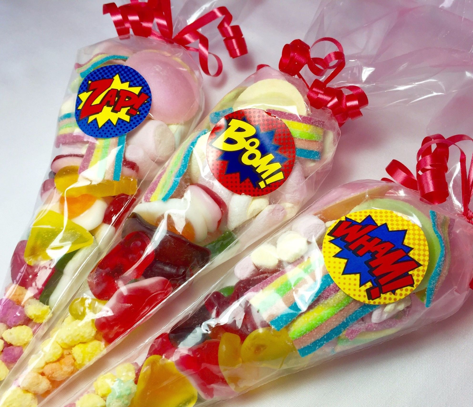 Super Hero Pre Filled Party Sweet Cones