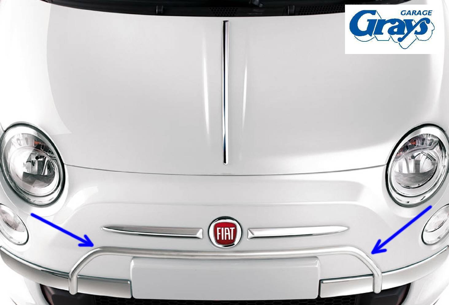 fiat 500 chrome 'a' bar | fiat 500 accessories | personalise your