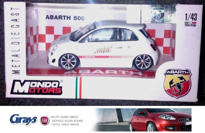 abarth 500 model 1 43 scale 500 abarth model selenia. Black Bedroom Furniture Sets. Home Design Ideas
