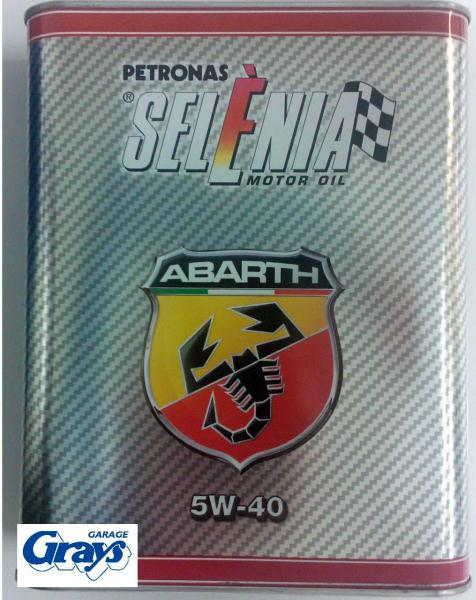 abarth selenia 5w 40 engine oil 2 litre can abarth. Black Bedroom Furniture Sets. Home Design Ideas