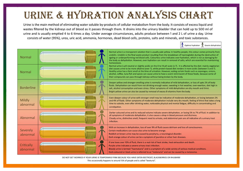 A Unique Visual Tool Urine Amp Hydration Analysis Chart