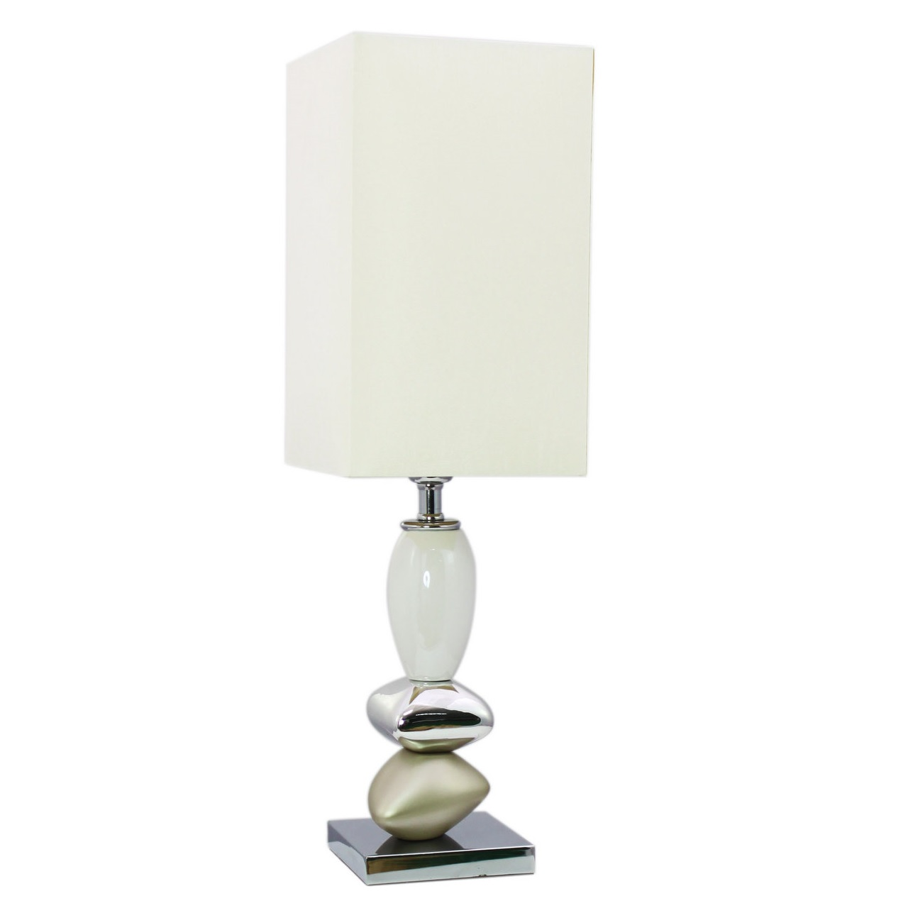 Table lamp champagne chrome pebble table lamp champagne chrome aloadofball Choice Image
