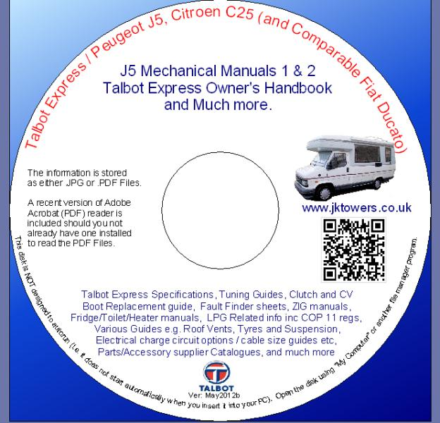 talbot express manuals and more cd dvd rh jktowers co uk Peugeot J5 Police Peugeot J5 Service Manual