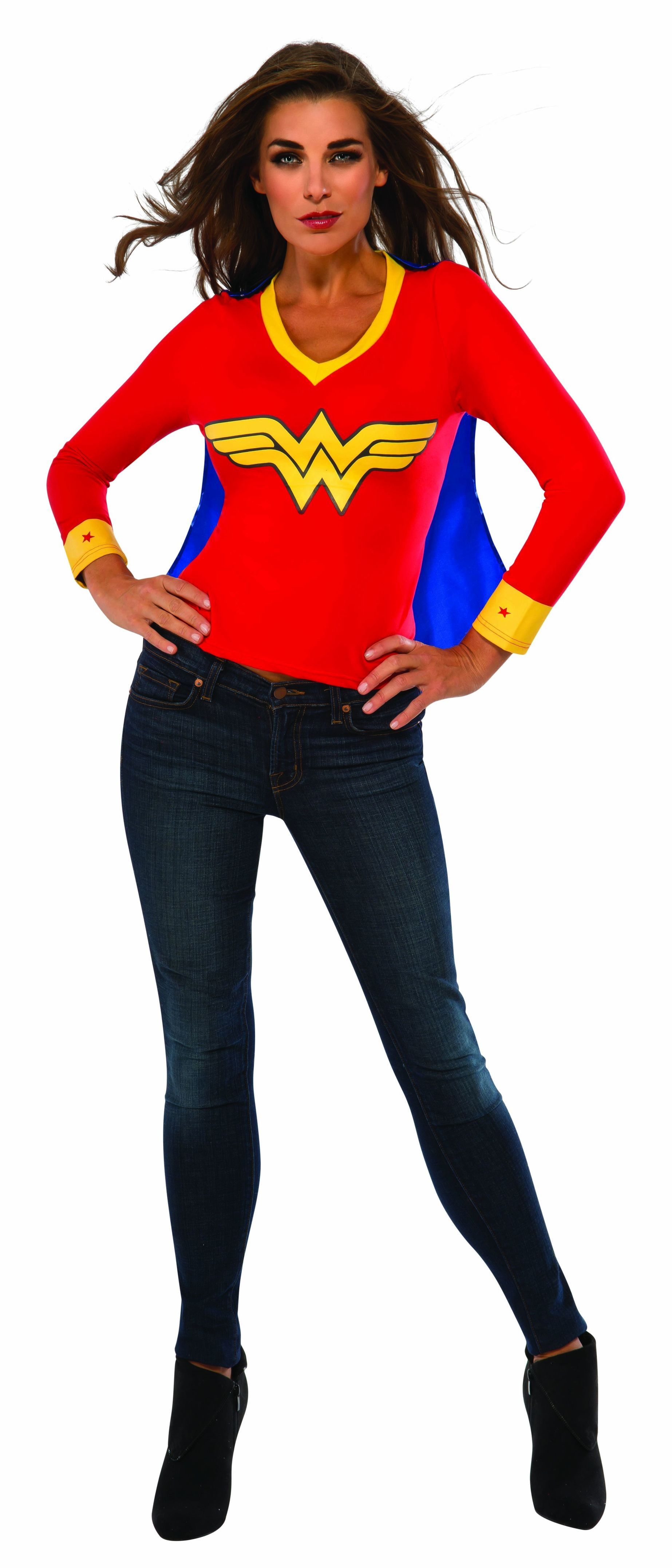 wonder woman adult t-shirt with cape