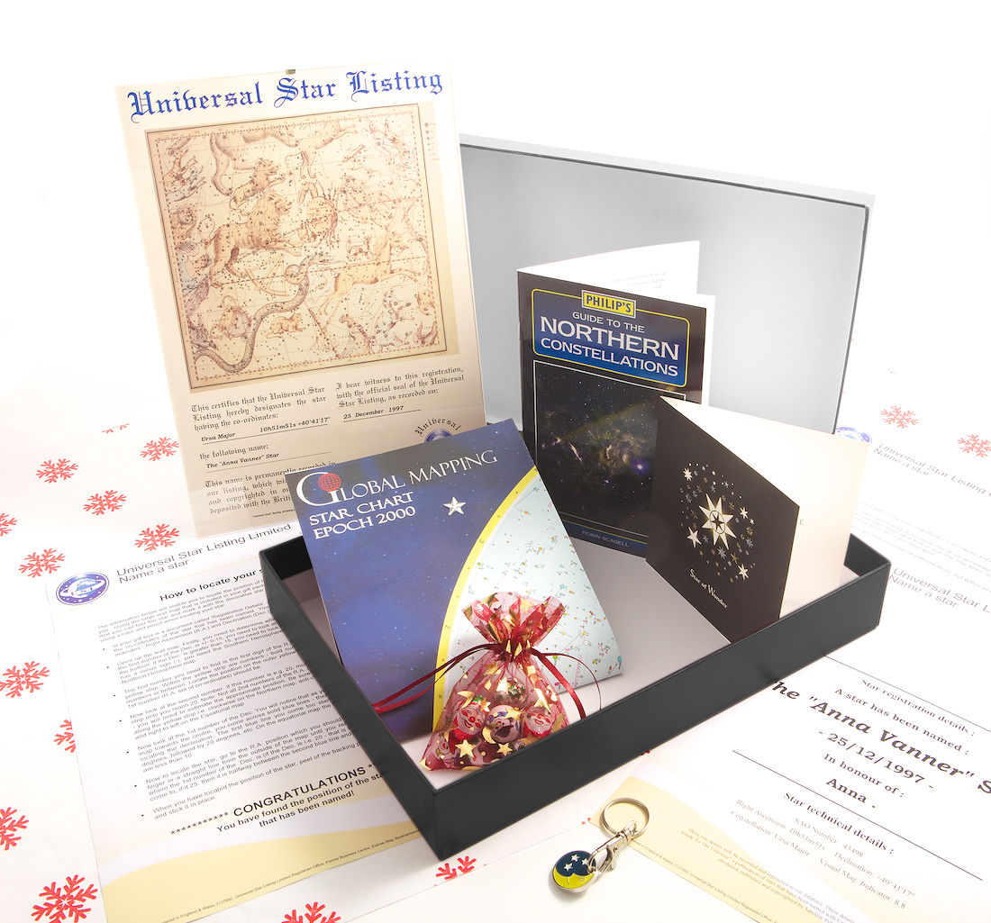 Name a Star Christening Gift Pack @ £19.99