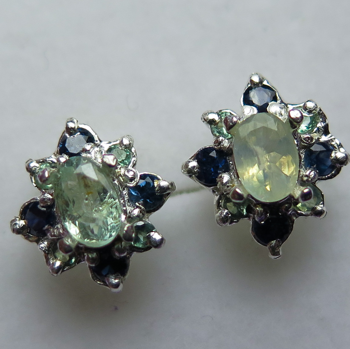 resplendent natural synthetic stud fetheray vintage russian alexandrite products earrings