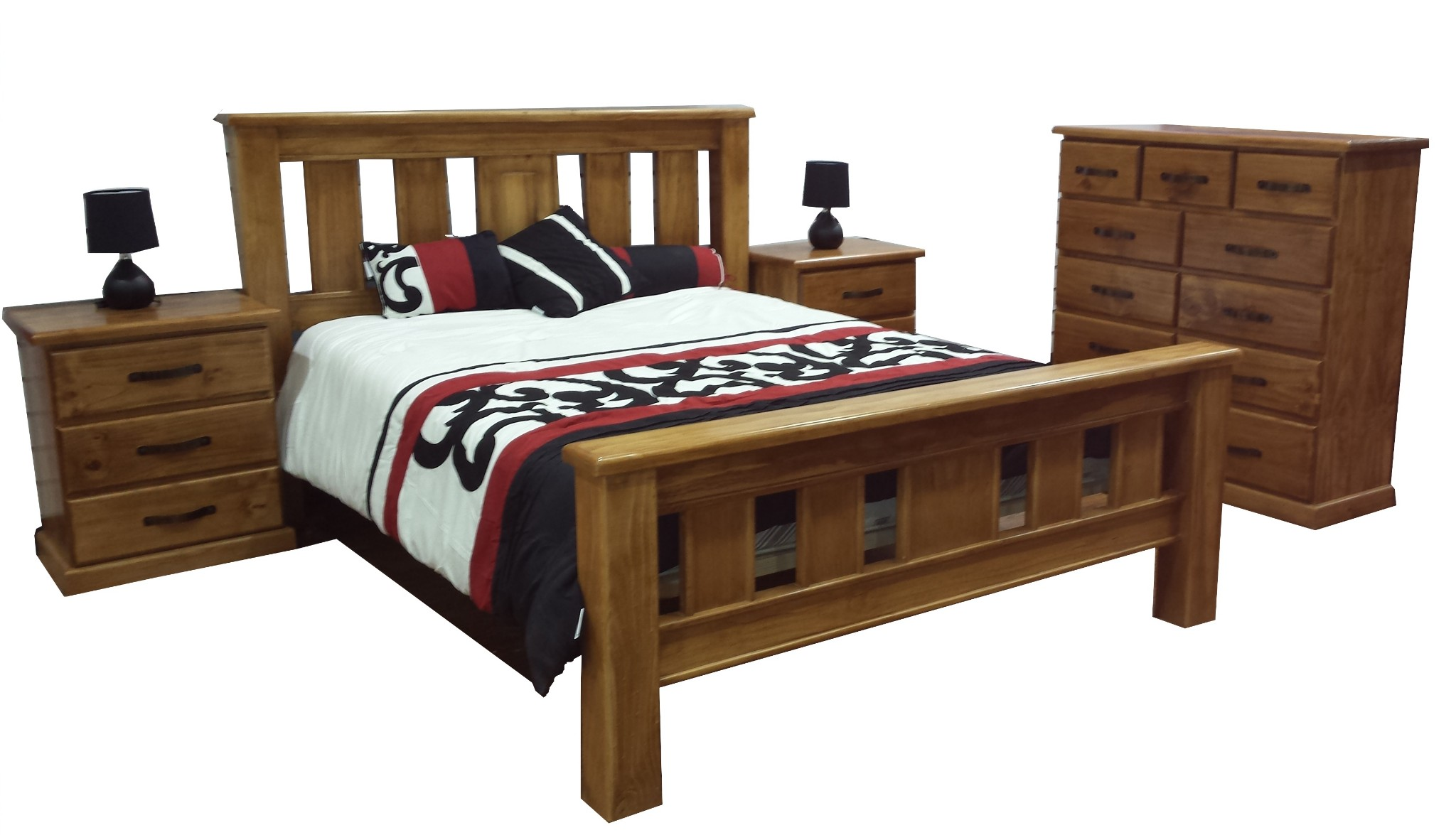 Ned King 4 Piece Bed Package