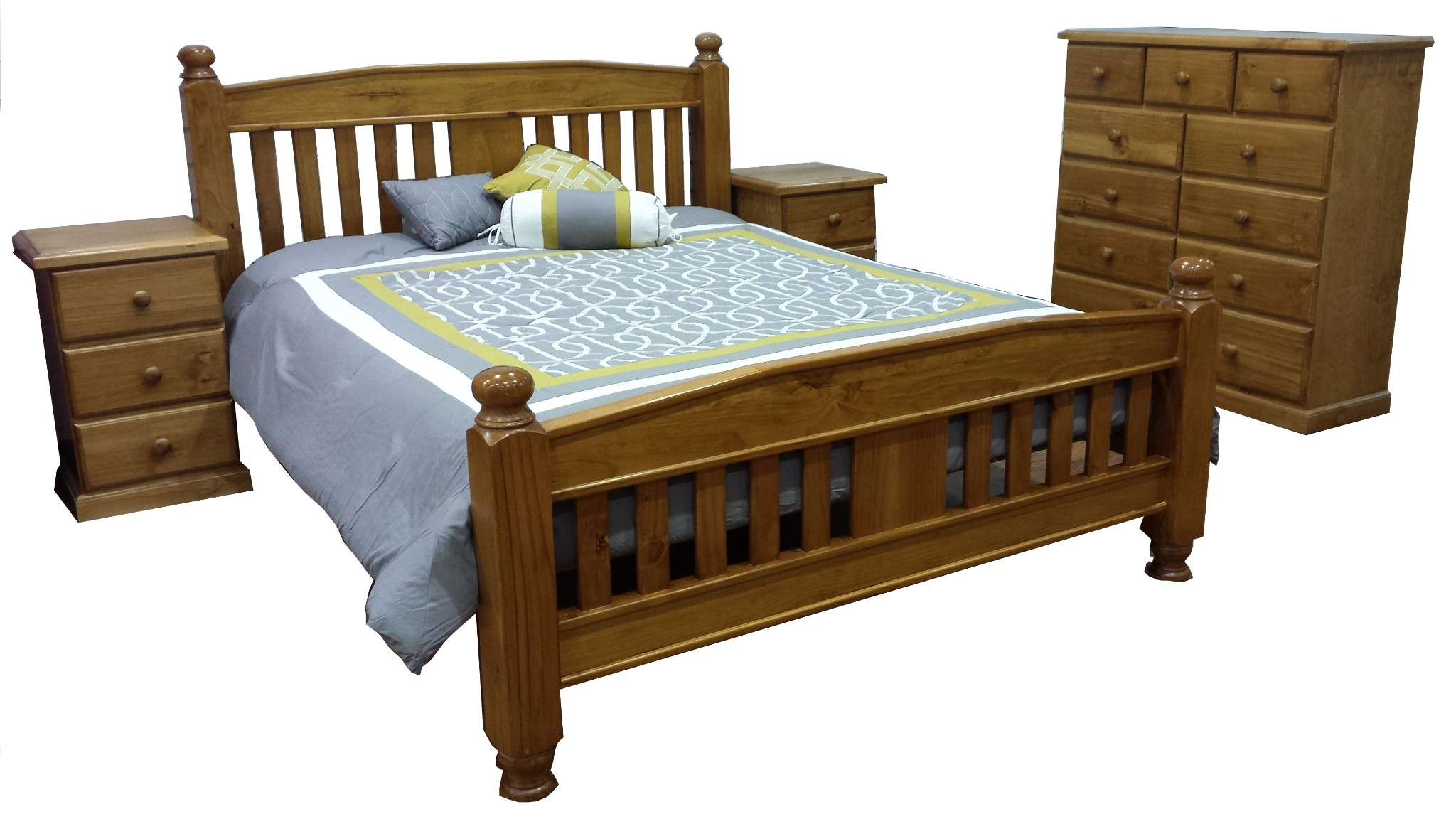 sandy queen bed 4 piece package