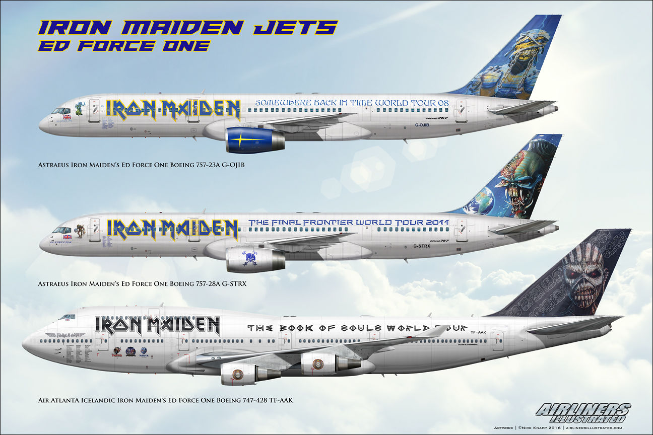 iron maiden jets ed force one boeing 757 747 g ojib g strx tf aak. Black Bedroom Furniture Sets. Home Design Ideas