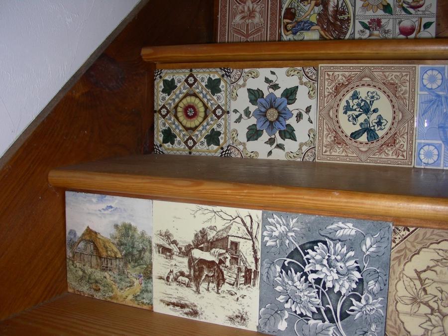 Individual Original Victorian Fireplace Tiles