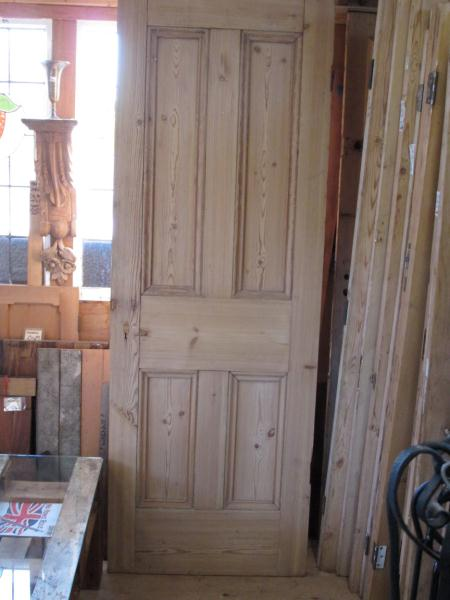 Reclaimed Victorian 4-panel Pine Door - stripped & Victorian 4-panel Pine Door - stripped pezcame.com
