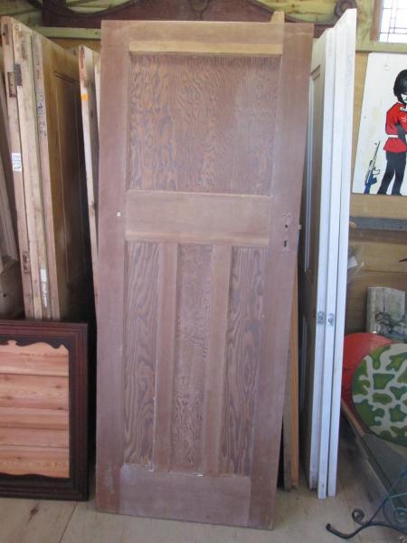 Reclaimed 1930\u0027s 4-panel 1 over 3 Pine Door - stripped & 1930\u0027s 4-panel 1 over 3 Pine Door - stripped