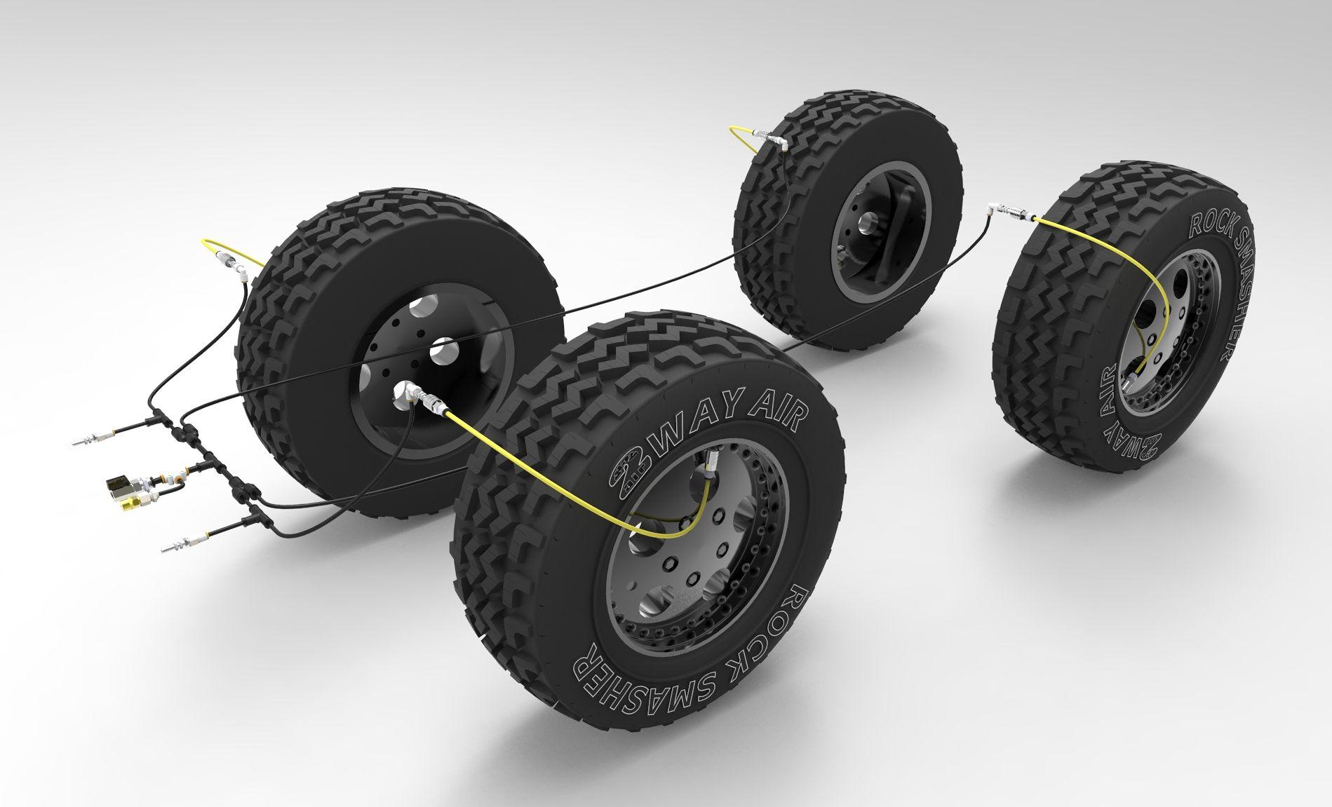 2wayair 4 Wheel Master Kit