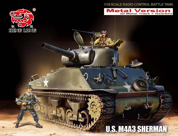 Heng Long 1 16 Pro Radio Control Tank M4a3 Sherman Bb