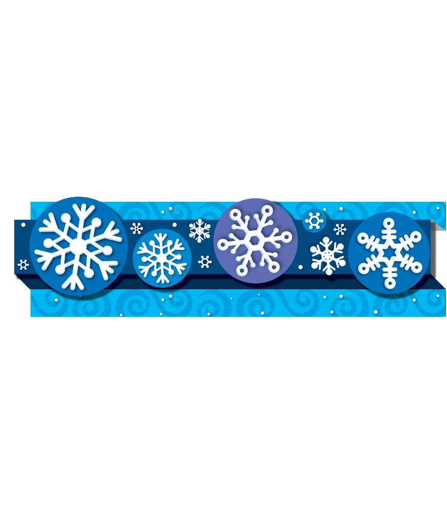 photograph about Printable Bulletin Board Borders known as Snowflakes Pop-Its® Border