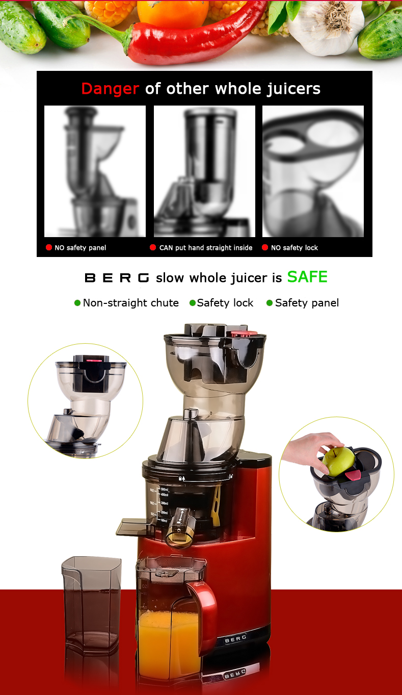 Berg J100 Pro Slow Juicer Review : BERG Slow Juicer