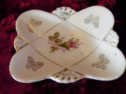 Hand Painted Bond Ware Quot Moss Rose 22k L Amp M Tray