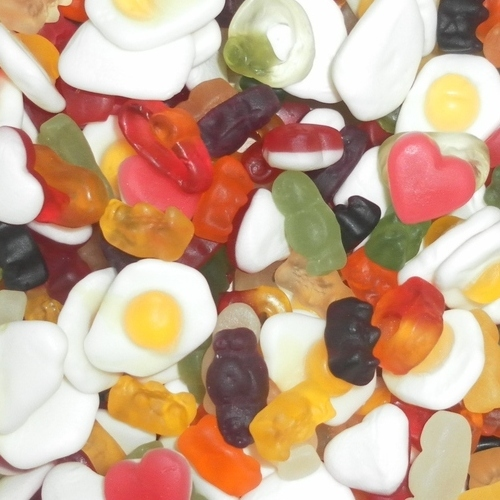 Haribo Mix Up Assorted Fruity Foam Gums Jelly Party Sweets